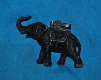 Elephant Cigarette Lighter ANTIQUE BRASS