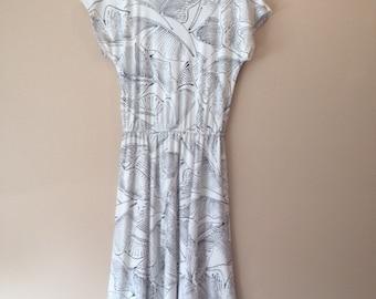 Vintage Mid-Length Cotton Dress