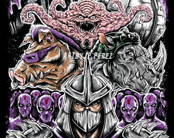 Dimension X - TMNT Teenage Mutant Ninja Turtles Epic Painting Premium Quality Giclee Archival Poster Print