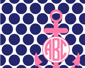 Monogrammed Sprial Notebook - Anchor