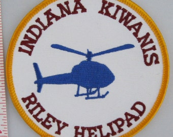 Indiana Kiwanis Riley Helipad Sew On Patch - Emergency Service Patrol Sew-On Patch - Paramedic Sew On Patch - Embroidered Applique Patch