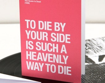 To Die By Your Side – card