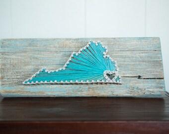 Virginia Driftwood String Art
