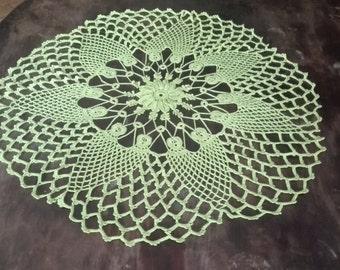 Lime Gorgeous Crochet Cotton Doily