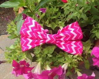 Pink Zig Zag Hair Bow