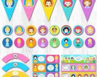 Disney Princess Party Package, Disney Princess Party Pack, Disney Princess Party Set, Disney Princess Party Supplies