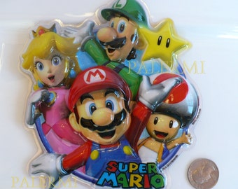 Super Mario Cake Topper, Mario Bros. Cake Topper, Mario Luigi Toad and Peach Cake Topper