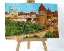 French art - French landscape painting - Travel art - Small oil painting - France art - French home decor - Travel gift - French landscape