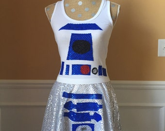 Droid Inspired Running costume tank top ONLY