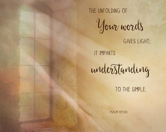 Unfolding of Your Word, Art Print