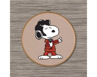 Elvis Snoopy - PDF Cross Stitch Pattern