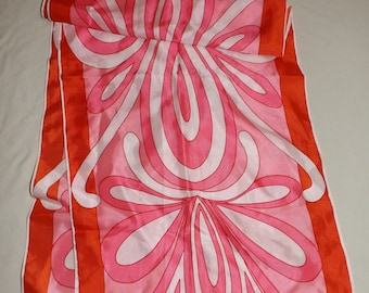 Vintage Mod Vera scarf! Great abstract print! Made in Italy