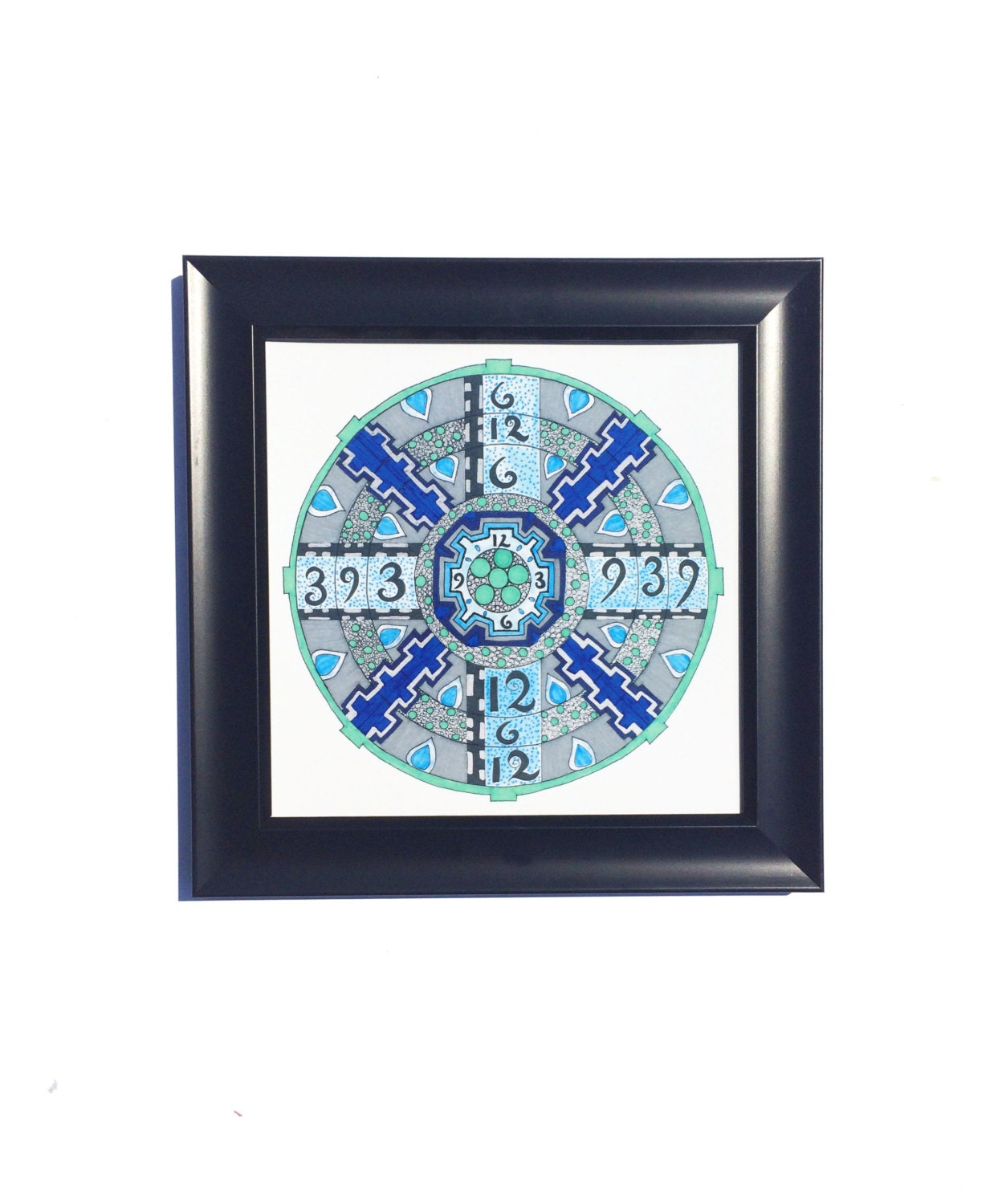 Steampunk Art Mandala Art Wall Art Print Clock Art Home