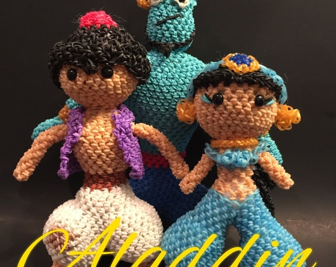 Disney's Aladdin Combo Play Pack Rubber Band Figure, Rainbow Loom Loomigurumi, Rainbow Loom Disney