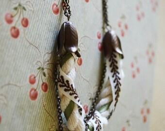 Vintage Floral Bib Necklace