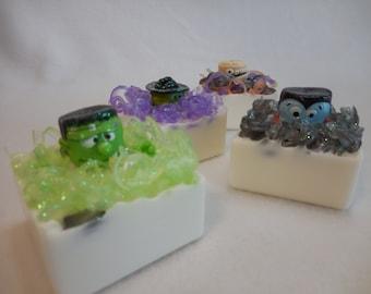 Halloween Soap - Monster Soap - Vampire Soap - Frankenstein Soap - Witch Soap - Castile Soap - Non Edible Halloween Treats - Trick or Treat