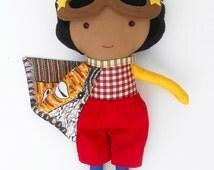 CLOTH DOLLS, black doll, superhero doll, fabric doll, dolls, african american doll, toys, superhero cape, boy dolls, doll like me, doll