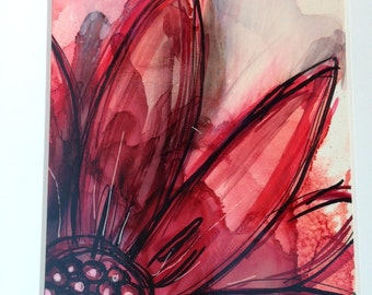 red and black  sunflower painting