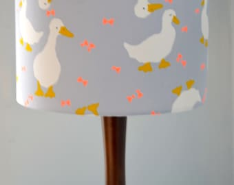 Grey lighting, grey table lamp, grey decor, retro decor, lampshades, lighting, floor lamp, bedroom decor, handmade lighting, drum lampshade