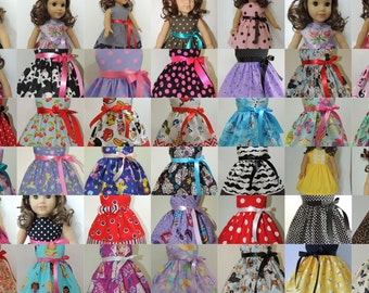 18 inch Doll Clothes - Fit American Girl Doll -Handmade -  Choose 3 Dresses and Save
