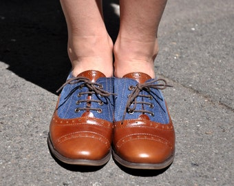 Vernon - Womens Brogues, Oxfords for Women, Leather Shoes, Womens Oxfords, Handmade Shoes, , Brown shoes, FREE customization!!!