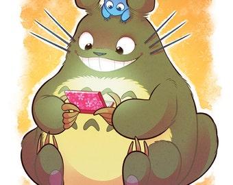 Totoro Poster Print Yorogato