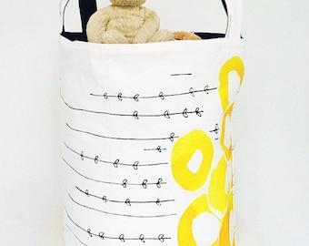 Toy Basket – Toy Storage – Laundry Basket – Laundry Hamper – Nursery Storage – Nursery Fabric Basket – Beach Bag