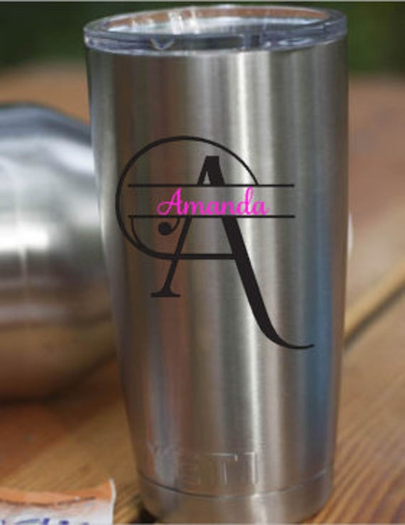 Yeti Decal Yeti Rambler Decal Custom Yeti Yeti Tumbler - Custom vinyl decals etsy