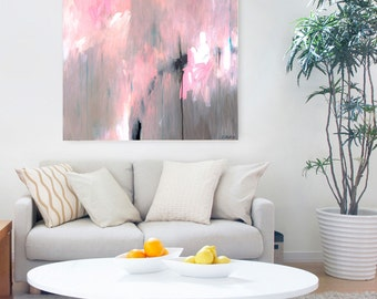ABSTRACT ART PRINT, wall art print, large minimalist Abstract Painting, Original Fine Art Print, pink painting, original abstract painting