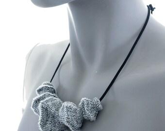 PDF Knitting Pattern - Lunar - Futuristic soft jewellery knit necklace