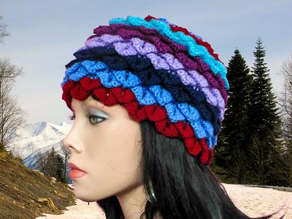 Crochet hat pattern Crocodile Stitch hat Slouchy beanie crochet pattern Crochet beanie pattern Crochet slouchy beanie Crochet hat patterns