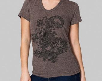Henna T-shirt,  screen printed tee, junior clothing, American Apparel, juniors shirts