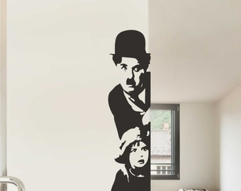 Charlie Chaplin Wall Decal - Home Decor - Famous Icons Decals - Famous People Decal - Car Decals - Wall Decals - Vinyl Wall Decal - Stickers