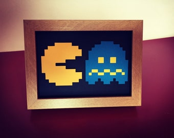 Pacman and Ghost - Framed 3D Cutout