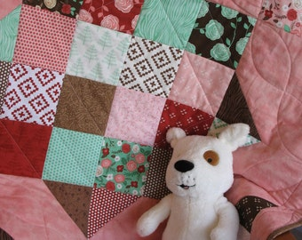 Into the Woods baby quilt, FREE SHIPPING