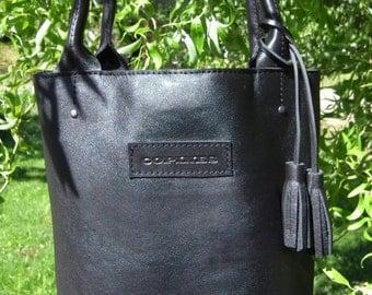 Leather bag black color