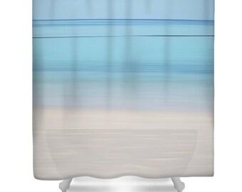 Blue shower curtain   Etsy