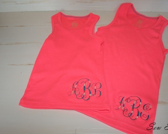 Monogrammed Girls' Tank Top