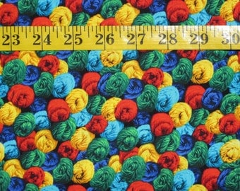 Multi-color Skeins of Yarn Fabric, Sold By the Yard, Ships to Most Countries