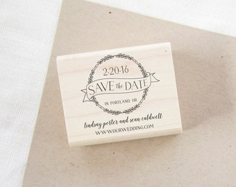 Save the Date Stamp - wedding invitation stamp - wedding stamp - custom stamp - custom wedding stamp - save the date rubber stamp - Z1069