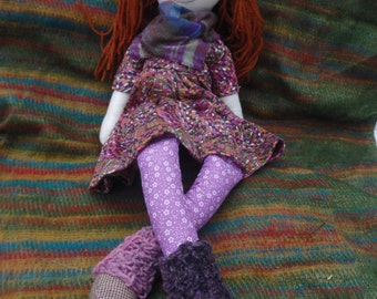 Handmade Hippie Art Doll Collectable Cloth Rag Doll