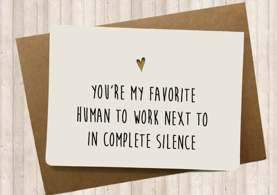 funny card for your co