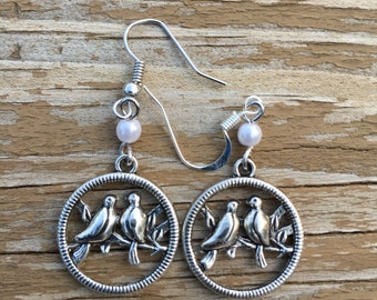 CLEARANCE - Lovebird earrings