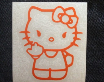 Bad Hello Kitty w/ middle finger - Available in all colors/sizes!