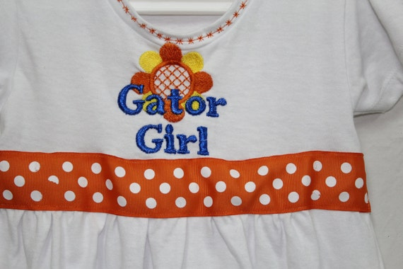 Florida Gator Girl dress toddler gator girl dress t shirt
