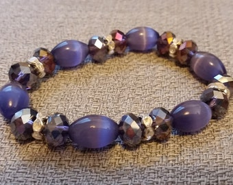 Beautiful Purple and Crystal Bracelet