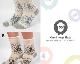 Angora socks Woolen Socks Hand knitted socks