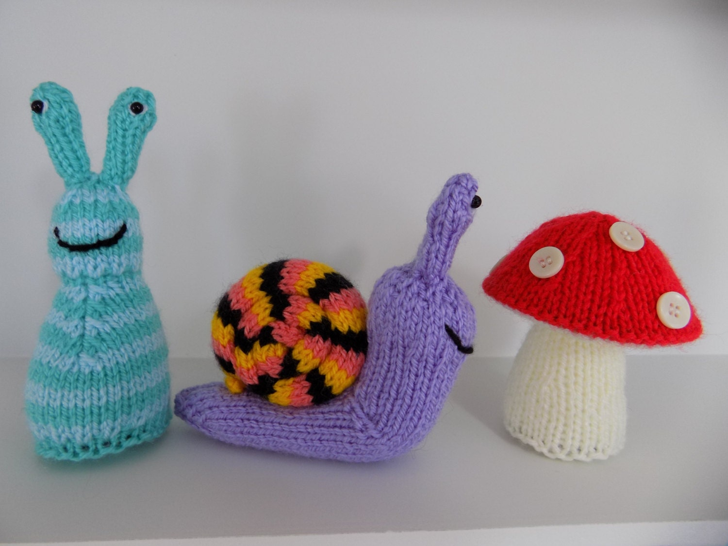 Pdf Knitting Pattern original snail slug and toadstool