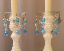 Blueberry Hill, Upcycled Bobeches with Vintage Necklaces, Candle Wax Catchers