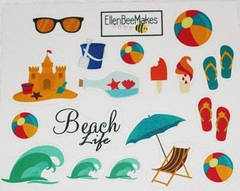 Beach Themed Sticker Sheet